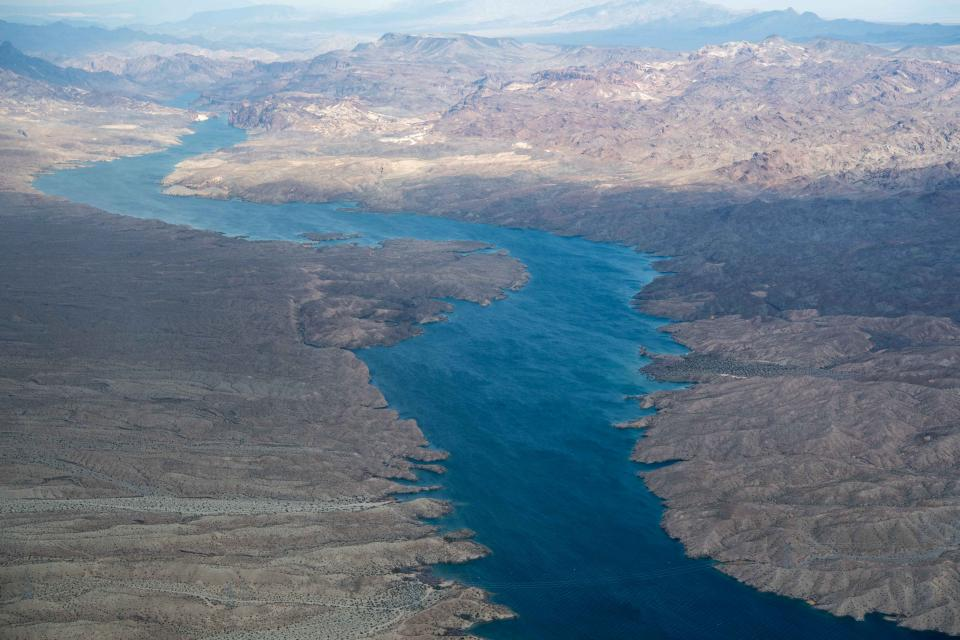 Aerial view of the lower Colorado River