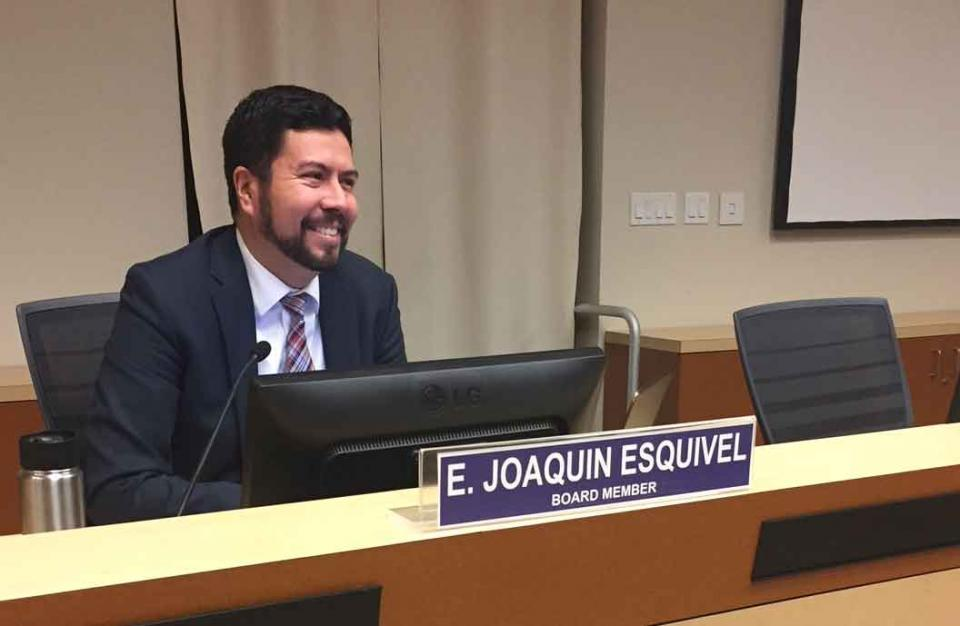 State Water Resources Control Board member E. Joaquin Esquivel