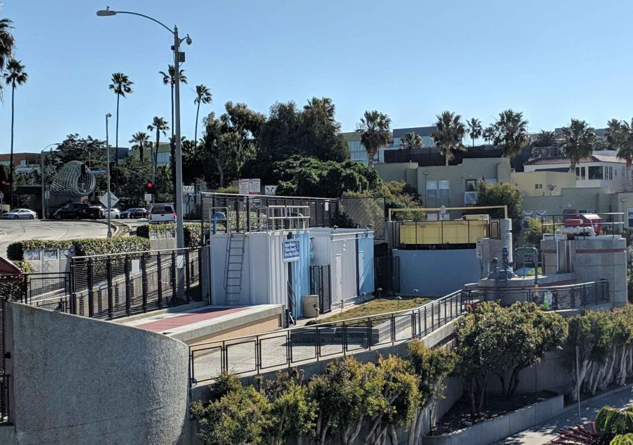 The Santa Monica Urban Runoff Recycling Facility (SMURRF) treats dry weather urban runoff to remove pollutants such as sediment, oil, grease, and pathogens for nonpotable use.