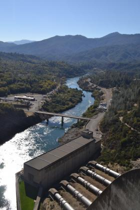 Sacramento River below Shasta Dam