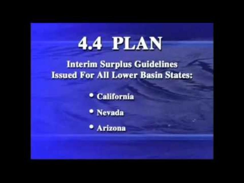 Colorado River Water Use 4.4 Plan