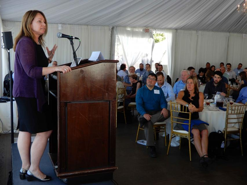 Bureau of Reclamation Commissioner Brenda Burman addresses an audience at the Water Education Foundation's Water Summit Sept. 20 in Sacramento.