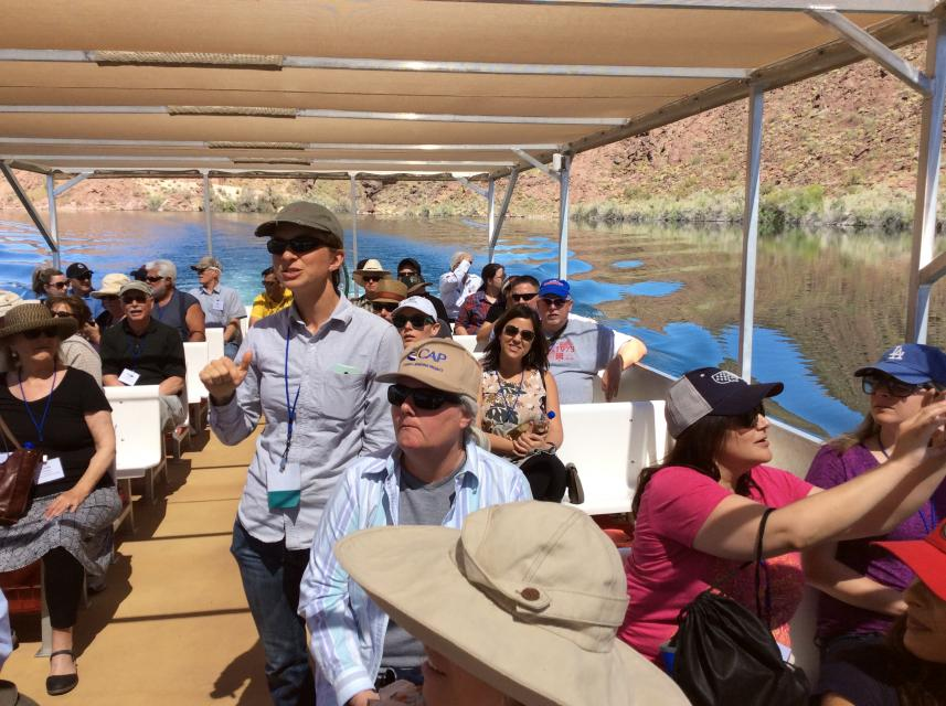 Enjoy a guided boat cruise through Copper Basin on our Lower Colorado River Tour.