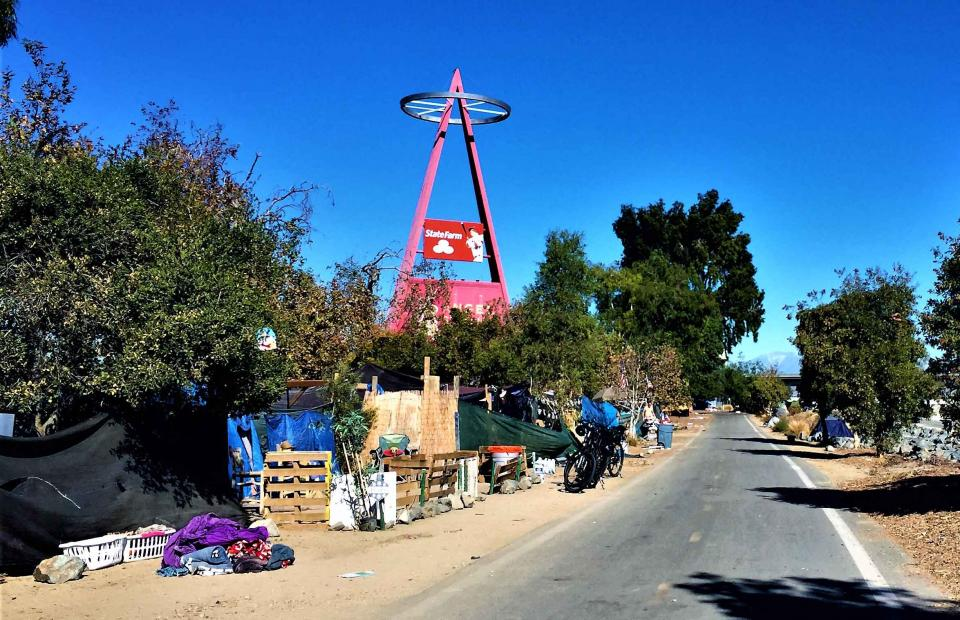Angel Stadium homeless encampment